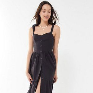 Urban Outfitters Positano Midi Dress in Black